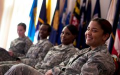 Women fight in the military